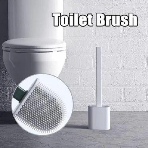 Silicone Flexible Toilet Brush With Holder, No-Slip Long Handle Toilet Brush  at Rs 115/unit | Toilet Cleaning Brush, Plastic Toilet Brushes, Bathroom  Brush, Bathroom Toilet Brushes, Toilet Cleaning Tool - HK Imports,