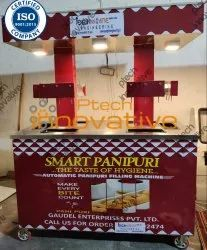 18 Panipuri Machine Nozzles With Serving Counter