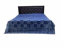 Indigo Blue Dabu print kantha Bedcover
