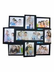Wooden Brown Backlight Collage Photo Frame, For Home