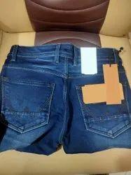 Formal Wear Button Men Denim Jeans Pant, Waist Size: 32