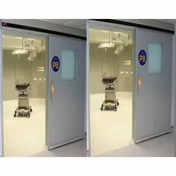 MS sheet Color Coated Plate Type Auto Sliding Fire Resistant Door