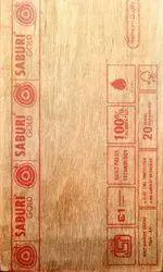 Gurjan Saburi Gold Plywood, Thickness: 9MM, Size: 8X4