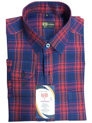 Collar Neck Men Cotton Check Shirts, Dry clean, Size: L