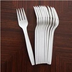 100 Pieces White Disposable Plastic Fork, For Event and Party Supplies, Size: 6 Inches(l)