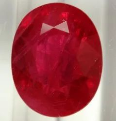 Red and Pink Emerald Cut Ruby Stone, 1 Carat