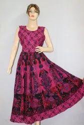 Hot Dye Print Jaipuri Frock