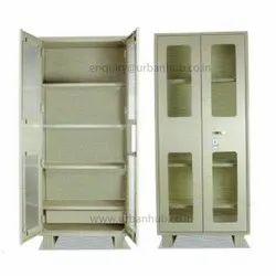 Metal Library Cupboard With Glass Door