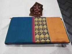 Handloom Designer Narayanpeth Cotton Saree, 6 m (with blouse piece)