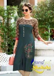 Rayon Formal Wear Shakshi Vol 2 Kurti, Wash Care: Dry clean