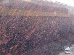 Polished Silky Brown Granite Slab, Flooring, Thickness: 15-20 mm