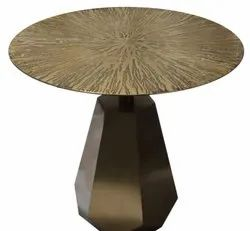 Golden Stainless Steel Round Table
