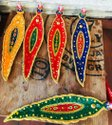 Nirmala Handicrafts Colored Leaf Metal Incense Stick Holder And Aluminium Ash Catcher Temple Decor