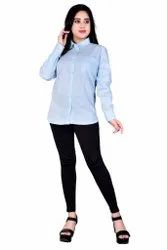 Full Sleev Cotton Women Formal Shirt