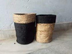 Cotton Dori Basket ( Black And Natural)
