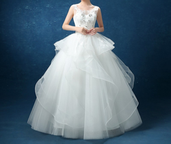 White Christian Wedding Catholic Gown Wedding Frock
