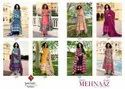 Tanishk Fashion Mehnaaz Jam Cotton Embroidered Dress Material Catalog