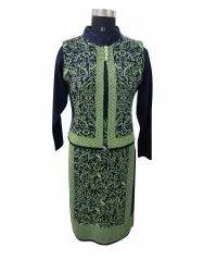 Party Wear Full Sleeve Ladies Woolen Designer Kurti, Size: XL, Wash Care: Dry clean