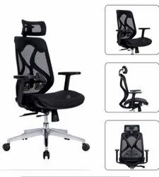 Executive High Back Chair - Ergon Mesh Black19000