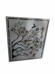 Tree Mild Steel Laser Cutting Gate Designs, For Residential, Thickness: 2 Mm