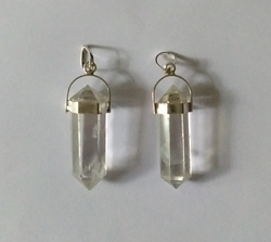 Crystal Sterling Silver Pendants