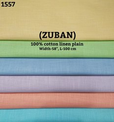 Kamlesh Textiles Formal Zuban 100% cotton linen plain shirting fabric, Normal Wash