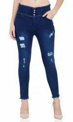Regular Bottom Ladies Denim Jeans, Waist Size: 32