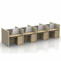 Wood Modular Wooden Workstation.