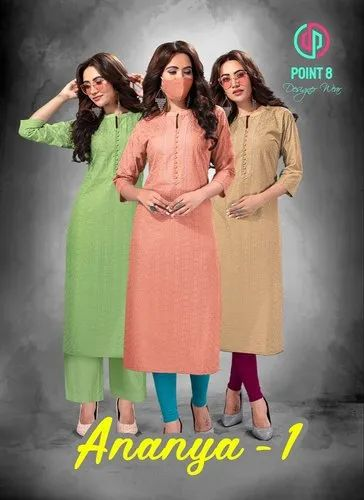 Deeptex Point 8 Ananya Vol-1 - Designer Chikan Work Kurtis