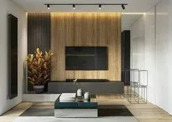 Brown Wall Mounted Living Room Wooden TV Cabinet