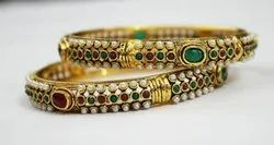 One Color Copper Gold Plated Immitation Bangles