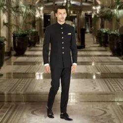 Party Black Men Bandhgala Suit