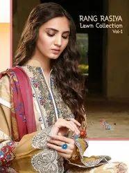 Shree Fabs Rang Rasiya Lawn Collection Vol 1 Cotton Karachi Print With Work Dress Material Catalog