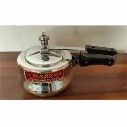 Wrought Aluminium 2 L Madona Handi Pressure Cooker, For Home