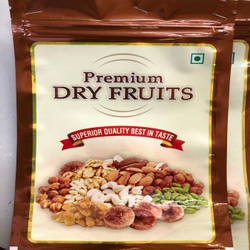 Dry Fruit Premium Metallised Printed Standy Pouches