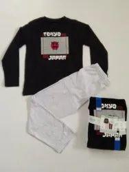 Kidswear - Boys & Girls Pyjama Set, Stock Lot Garments, Export Surplus Garments