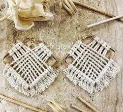 Fancy Earrings Handmade Macrame Jewellery
