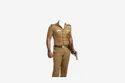 Khaki Police Uniform Made From Real Khaki Fabric