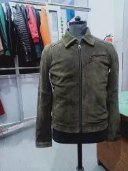 Full Sleeve Casual Jackets Men S Suede Leather Jacket