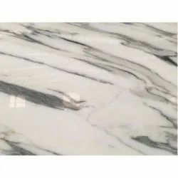 White Polished Finish Indian Marble Slab, Thickness: 15 mm