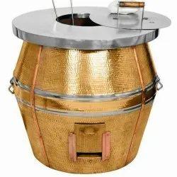 Gas Round Copper Tandoor, For Hotel
