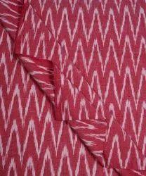 45 Inch Maroon,White Pochampally Handloom Fancy Ikat Cotton Fabric, For Garments, GSM: 150