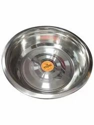 Silver Stainless Steel Round Bowl, Size: 1000 Ml