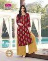 Diya Trendz Bibas Vol 8 Rayon Cotton Kurti with Palazzo and Pant Catalog