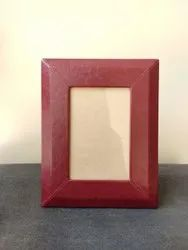 Wooden Leather Photo Frame, For Decoration