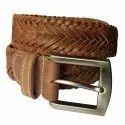 Men's Genuine Leather Braided Belt