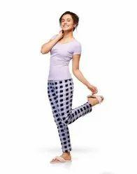 Hosiery Cotton 601 Lyra Ladies Pajama, Size: Small