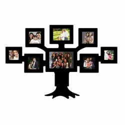 Wooden Black Tree Shaped Photo Frame For Decoration, Size: 16 X 24