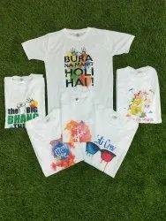 Polyester T-Shirts Holi Printed t Shirt