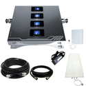 Quad Band Mobile Network Amplifier 2G 3G 4G Fully Kit - Coverage Upto 1500 Sq. Feet